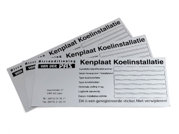 Kenplaat stickers